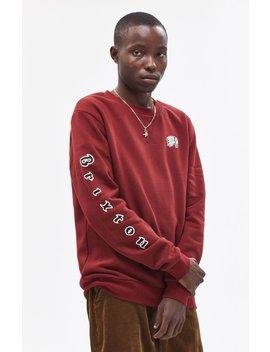 Brixton Primo Burgundy Crew Neck Sweatshirt by Pacsun