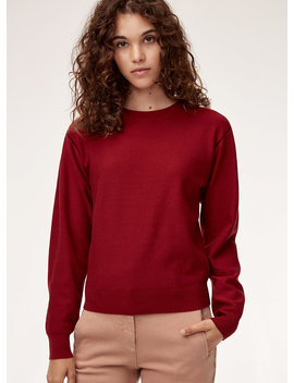 Sandra Sweater   Boyfriend Crewneck Sweater by Wilfred Free