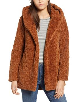 Hooded Faux Fur Jacket by Dylan