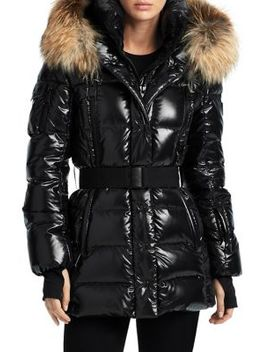 Millennium Fox Fur Trim Puffer Jacket by Sam.