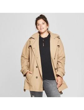 Women's Plus Size Trench Coat   Ava & Viv™ Khaki by Ava & Viv™