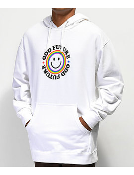 Odd Future Smile Logo White Hoodie by Odd Future