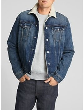 Icon Sherpa Lined Denim Jacket by Gap