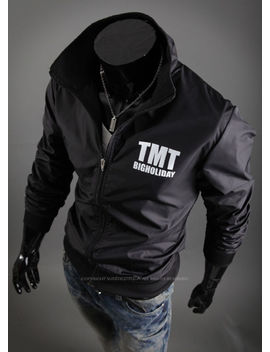 New Fashion Mens Stylish Tmt Windbreaker Blazer Jacket Jumper Outwear E1106 S/M by Ebay Seller