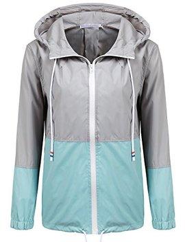 So Teer Women's Waterproof Raincoat Outdoor Hooded Rain Jacket Windbreaker (14 Colors S Xxl) by So Teer