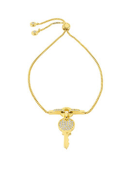 Lenox Pave Key Slider Bracelet by Henri Bendel