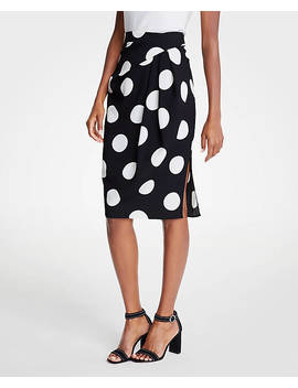 Polka Dot Wrap Pencil Skirt by Ann Taylor