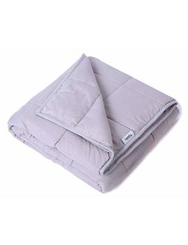 """Weighted Blanket For Kids 5 Lbs 36"""" X 48"""", Gravity Blanket 2.0 Use 100 Percents Cotton Fabric And Environmental Friendly Glass Bead, Perfect Sleep Therapy For People With Insomnia, Anxiety, Light Grey by Kpblis"""