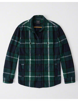 Flannel Shirt Jacket by Abercrombie & Fitch
