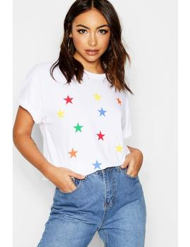 All Over Star Print Tee by Boohoo