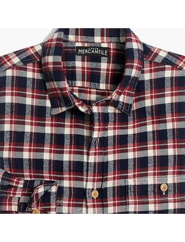 J.Crew Mercantile Flannel Shirt In Plaid by J.Crew