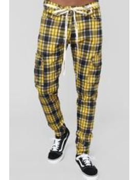 Nolan Cargo Pants   Yellow/Combo by Fashion Nova