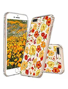 I Phone 8 Plus Case, I Phone 7 Plus Case, Mosnovo Saffron Yellow Flower Clear Design Transparent Printed Plastic Back Case With Tpu Bumper Protective Case Cover For Apple I Phone 7 Plus/I Phone 8 Plus by Mosnovo