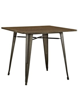"Alacrity 36"" Square Wood Dining Table Brown   Modway by Modway"