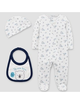 Baby Boys' Sleep N' Play, Hat And Bib Set   Just One You™ Made By Carter's®  White by Just One You Made By Carter's