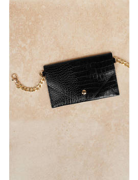 Beatrice Black Chained Belt Bag by Tobi