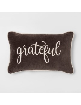 'grateful' Lumbar Throw Pillow   Threshold™ by Threshold™