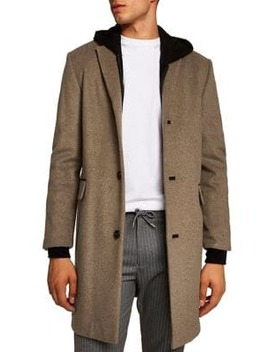 Denvar Wool Blend Overcoat by Topman