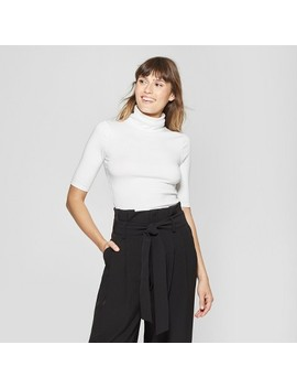 Women's Elbow Sleeve Turtleneck   A New Day™ by A New Day™
