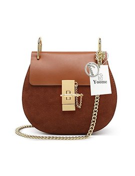 Yoome Punk Style U Ring Flap Bag Chain Bag Crossbody Envelope Bag Clutch Mini Bags For Girls by Yoome