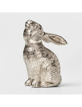Decorative Rabbit Figurine   Silver   Threshold™ by Threshold™