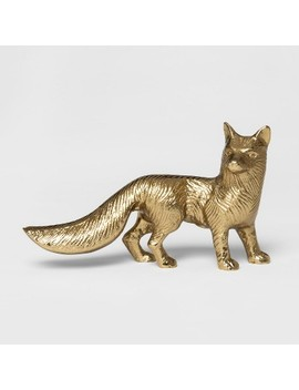 Decorative Fox Figurine   Gold   Threshold™ by Threshold™