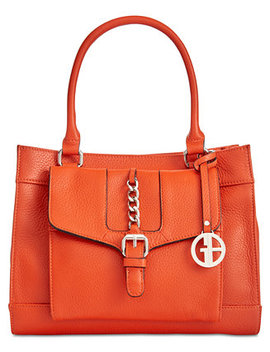 Pebble Leather Satchel, Created For Macy's by Giani Bernini
