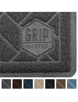 Grip Master Durable Premium Cat Litter Mat, Highly Effective, Xl Jumbo, No Phthalate, Water Resistant, Traps Litter From Box And Cats, Scatter Control, Mats Soft On Kitty Paws by Grip Master
