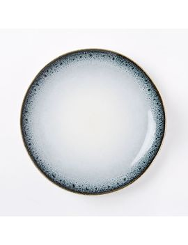 Reactive Glaze Dinner Plates (Set Of 4)   Black/White by West Elm
