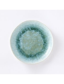 Reactive Glaze Salad Plates (Set Of 4)   Dusty Mint by West Elm