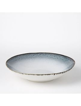 "Reactive Glaze 13"" Salad Serve Bowl   Black/White by West Elm"
