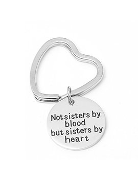 I Wen Sheng Friendship Gifts For Women, Side By Side Or Miles Apart Friends Are Always Close At Heart Best Friend Keychain, Birthday Gifts For Best Friend Bff Jewelry (2#) by I Wen Sheng