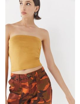 Project Social T Suede Cropped Tube Top by Project Social T