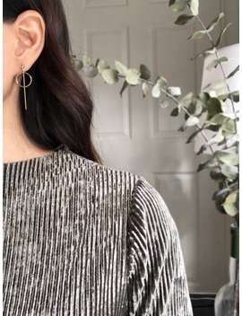 Minimal Geometric Earrings   Minimal Bar Earrings   Skinny Bar Drop   Circle Earrings   Long Bar Earrings   Simple Earrings by Etsy