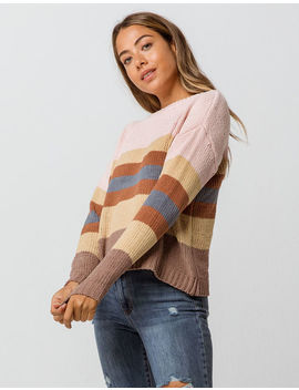 Woven Heart Matte Stripe Womens Chenille Sweater by Woven Heart