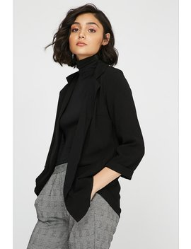 Open Front Longline Pocket Blazer by Urban Planet