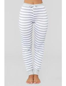 Kimberly Stripe Pj Jogger   Grey by Fashion Nova