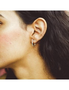 Small Circle Hoop Earrings • 14k 18k Gold, Rose Gold, Layered Sterling Silver • Dainty Round Hoop Earring • Handmade Earrings De02 by Etsy