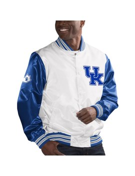 Kentucky Wildcats Starter The Rookie Satin Jacket   White by Starter