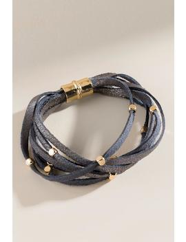 Jenna Beaded Leather Bracelet by Francesca's