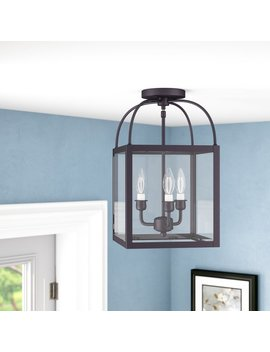 Alcott Hill Brundidge 3 Light Convertible Semi Flush Mount & Reviews by Alcott Hill