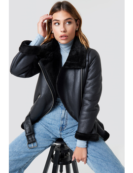 Belted Aviator Jacket by Na Kd Trend