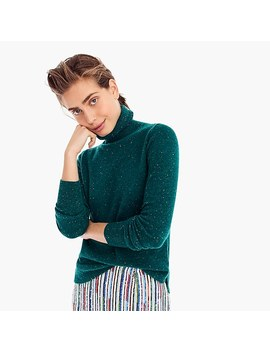 Cropped Turtleneck Sweater In Donegal Cashmere by J.Crew