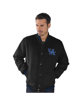 Kentucky Wildcats G Iii Sports By Carl Banks Red Line Varsity Jacket   Black by G Iii Sports By Carl Banks