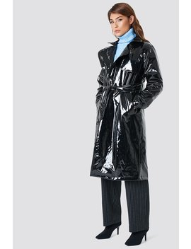 Patent Long Jacket by Na Kd Trend