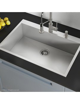 "Kraus Pax™ Zero Radius Topmount Series 33"" X 22"" Drop In Kitchen Sink & Reviews by Kraus"