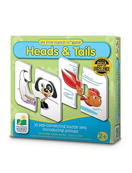 The Learning Journey My First Match It   Head And Tails   15 Self Correcting Animal Matching Puzzles by The Learning Journey