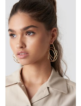 Chaotic Lines Earrings by Na Kd Accessories
