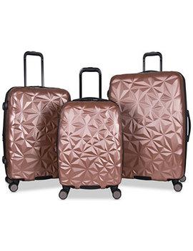 Geo Edge 3 Pc. Hardside Luggage Set by Aimee Kestenberg