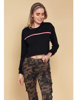 Striped Crop Sweatshirt by Papaya